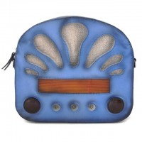 Radio Days Santa Croce Shoulder Bag In Real Leather