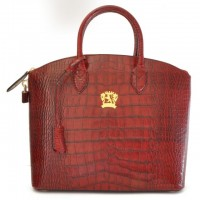 Versilia Croco-Embossed Italian Leather Handbag