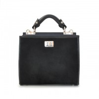 Anna Maria Small Italian Leather Handbag in Horsehide